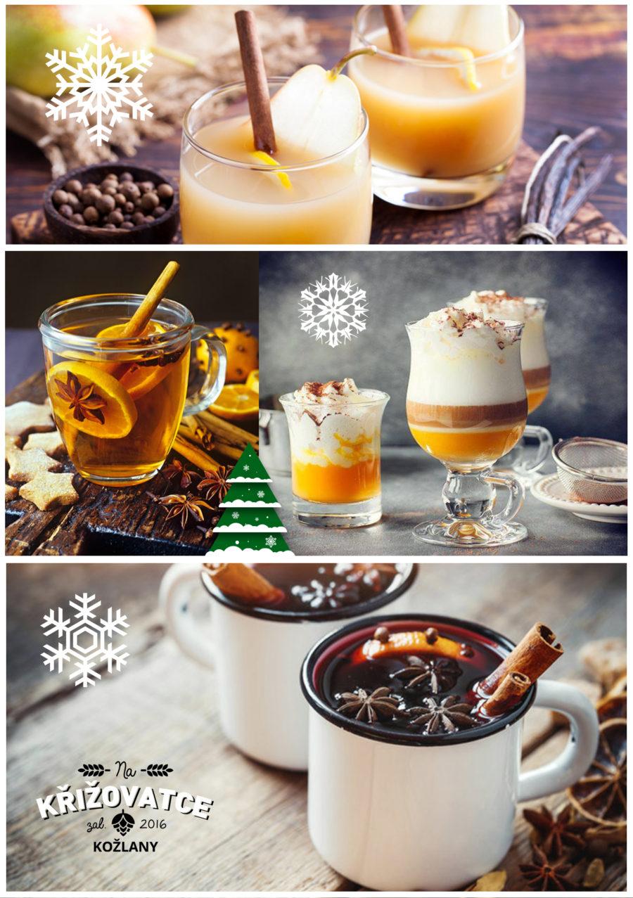 Zimní nabídka horkých nápojů